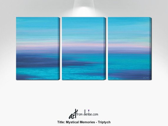 Beachy Triptych Painting 3 Piece Wall Art Canvas Ocean Sunset Etsy In 2020 3 Piece Wall Art Canvas Wall Art Canvas Photo Prints