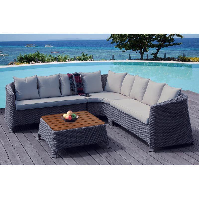 premium garden furniture rattan patio set sofa wood coffee table chairs cushions in garden patio garden patio furniture furniture sets
