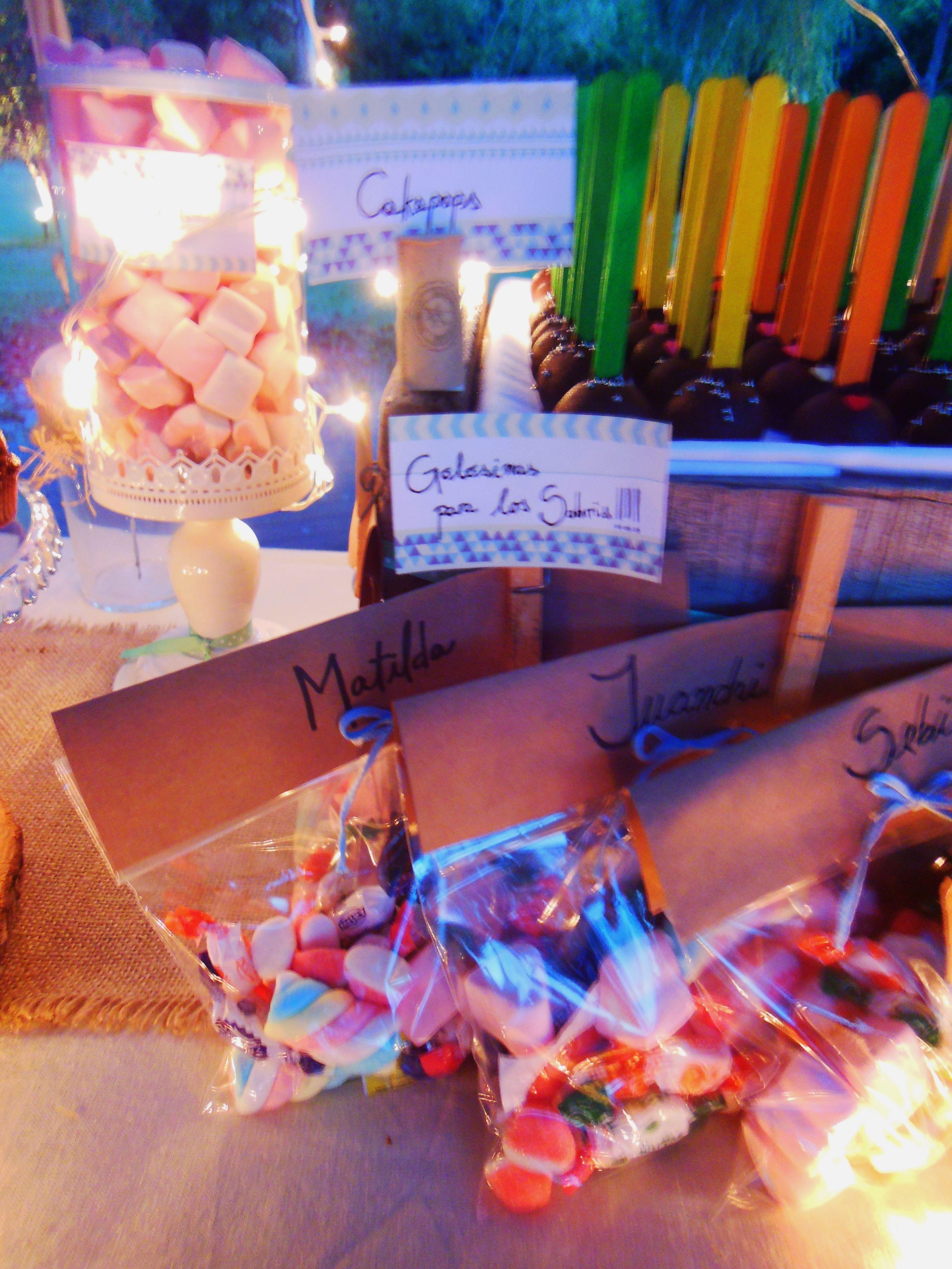 Bolsitas con golosinas para los ni os de la fiesta - Golosinas para cumpleanos de ninos ...