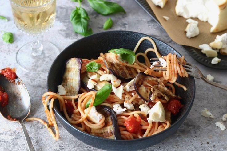Pasta Alla Norma Chickslovefood Recept Voedsel Ideeen Gezond Eten Recepten Gezonde Maaltijden