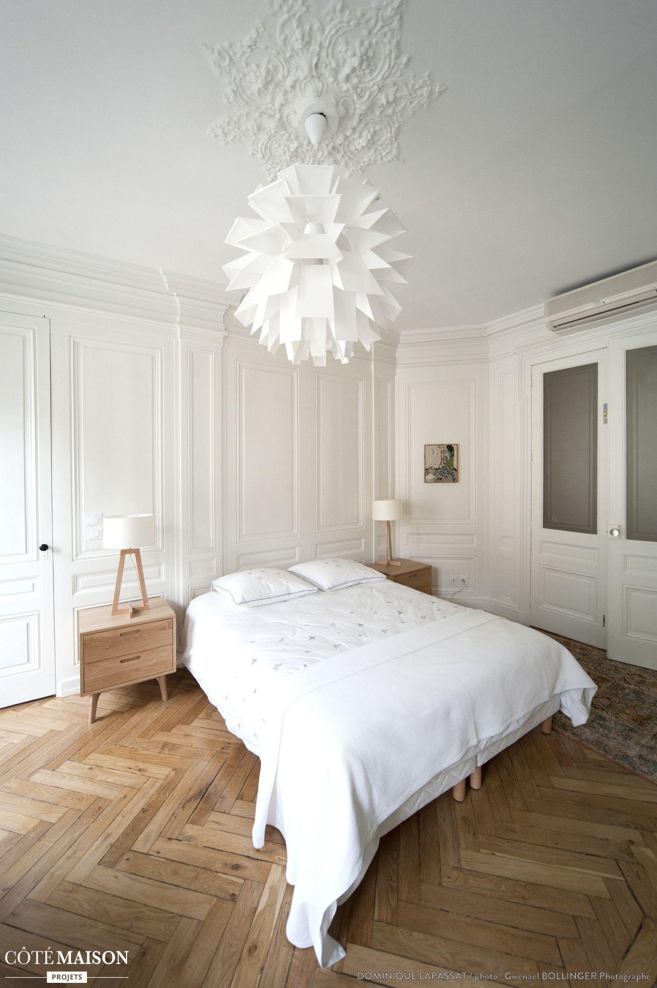 R novation d 39 un appartement haussmannien lyon dominique lapassat c t maison french city - Renovation chambre adulte ...