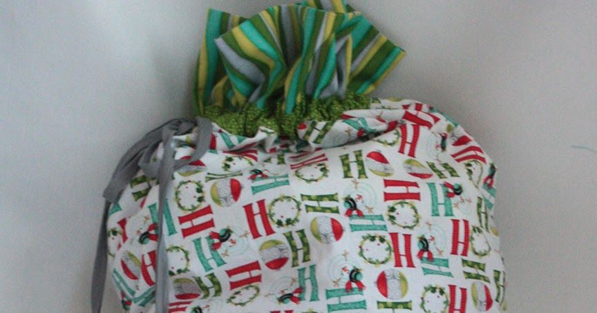 Sew in Love {with Fabric}: Pillowcase to Drawstring Bag Tutorial