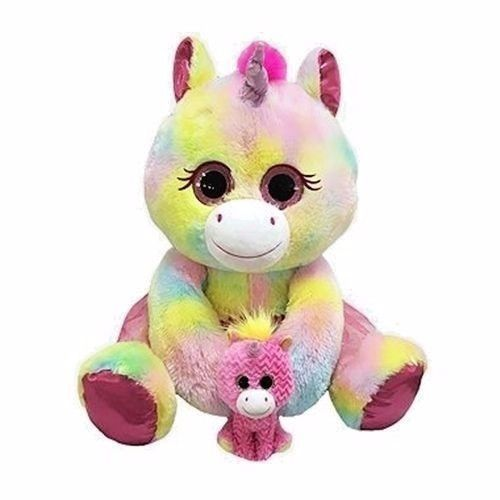 Blue Big Teddy Bear, Big 21 Plush Hugfun Eyenormous Unicorn Baby Pastel Rainbow Stuffed Animal Unicorn Plush Giant Plush Rainbow Plush