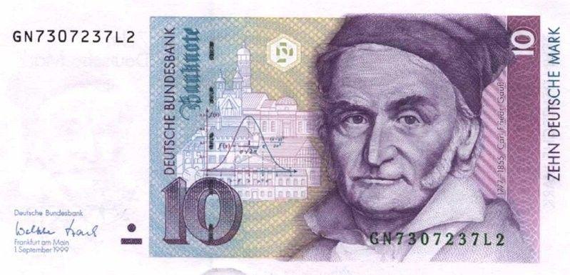 Banknote 10 Mark Deutschland Brd 1989 1999 Issue Wor P 38d Deutsche Mark Marken Deutsche