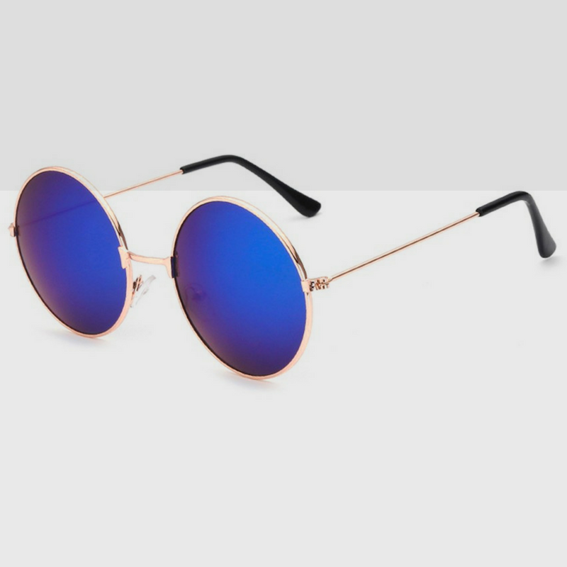 0fc849e3bbef Circle Sunglasses Elite Collection in Royal Blue Colored Lens Gold ...