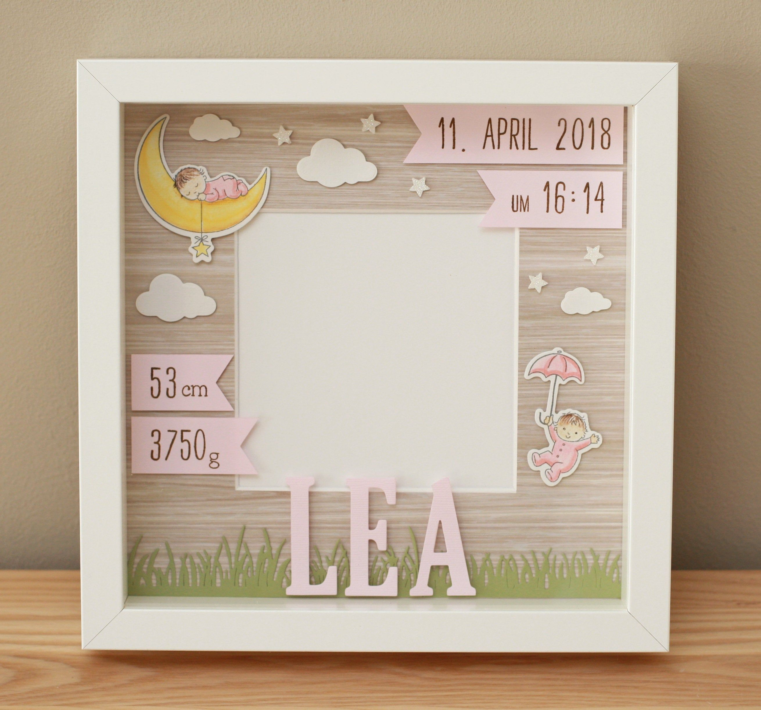 Personalized Gift For Birth In Frame Baby Frame Baptism Etsy Baby Frame Baby Room Colors Father S Day Diy