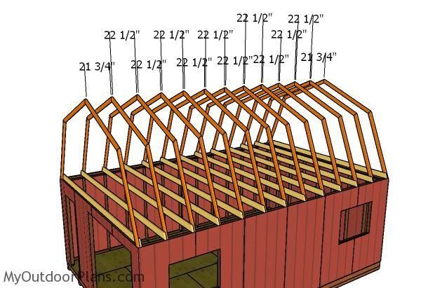 Best 16X24 Gambrel Shed Roof Plans Myoutdoorplans Free 640 x 480