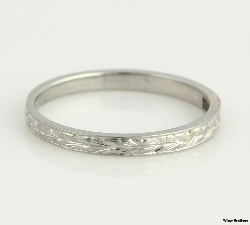 Unique White Gold Wedding Rings For Women Vintage High Karat Womens Wedding Band K White Gold Wheat Picture