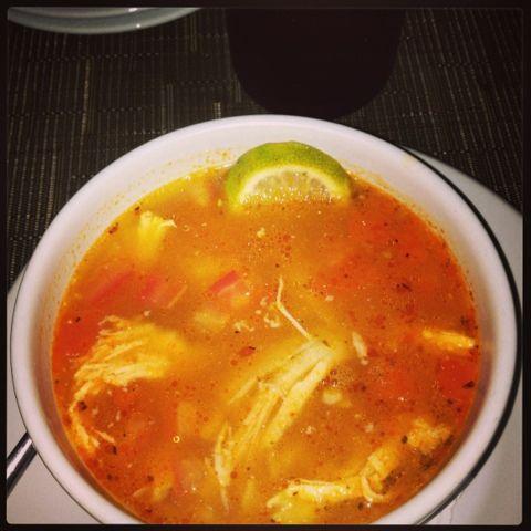 Sopa de lima in Riviera Maya.