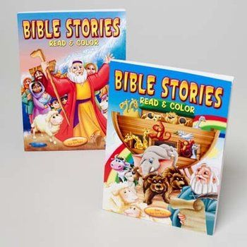 Bible Stories Read And Color Book Bible Stories Coloring Books Bible Coloring