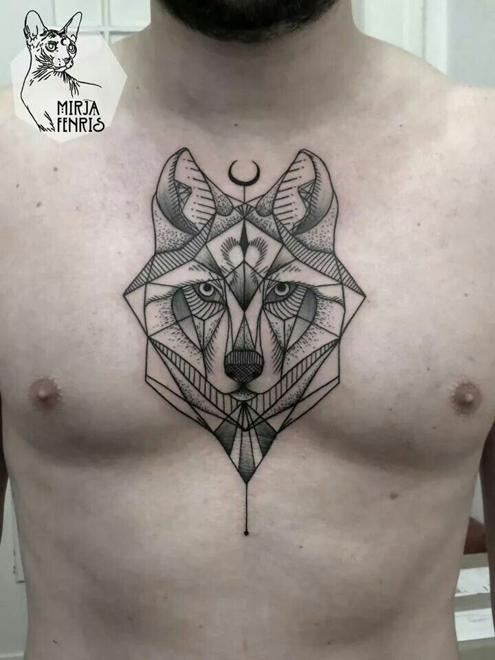 tatuaje lobo geometrico buscar con google tatto