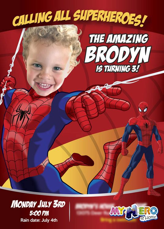 Turn your little one into spiderman for his unique birthday turn your little one into spiderman for his unique birthday invitation spiderman invitation spiderman stopboris Choice Image