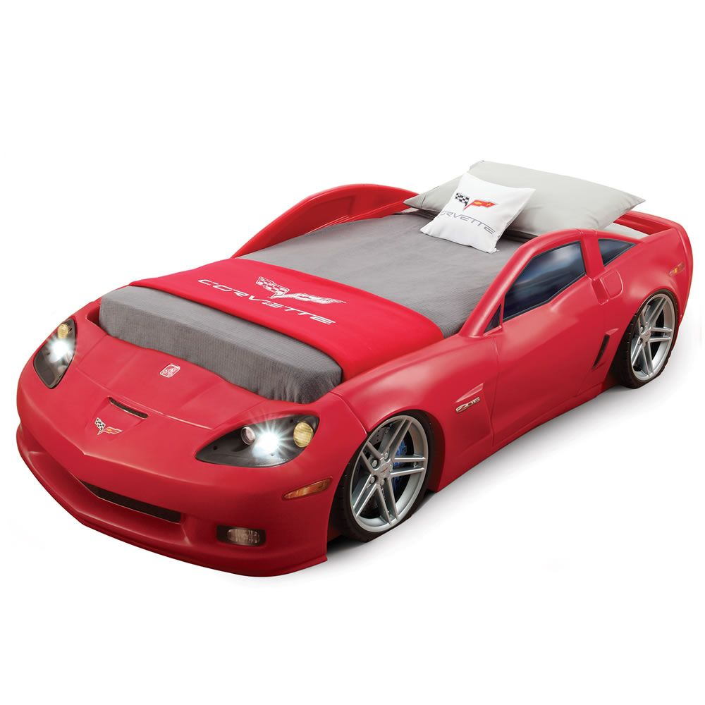 Corvette Bedroom Combo Bed Lights Race Car Bed