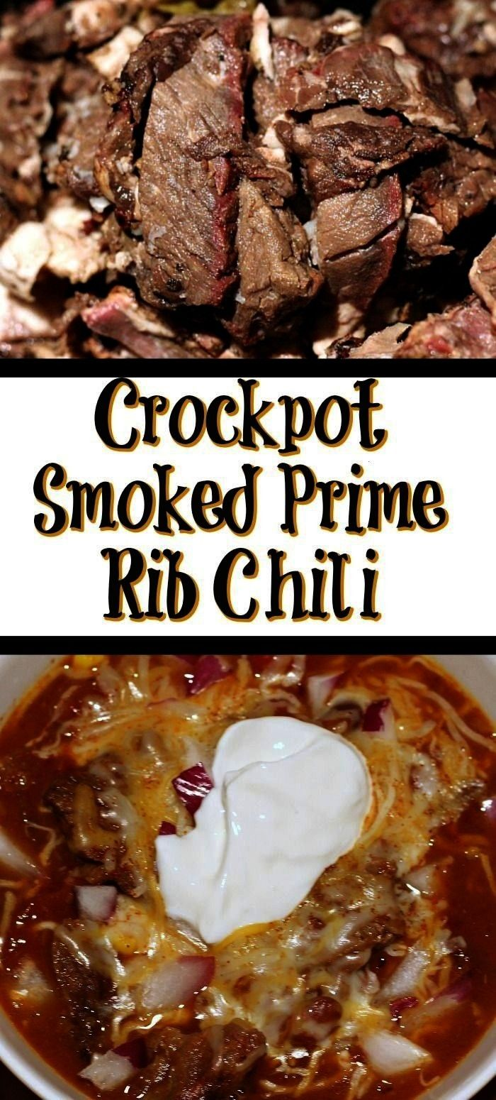 Rib Chili This Crockpot Prime Rib Chili Recipe is the perfect way to use up leftover prime rib from your holiday dinner Throw in the crockpot and allow it to cook This Cr...