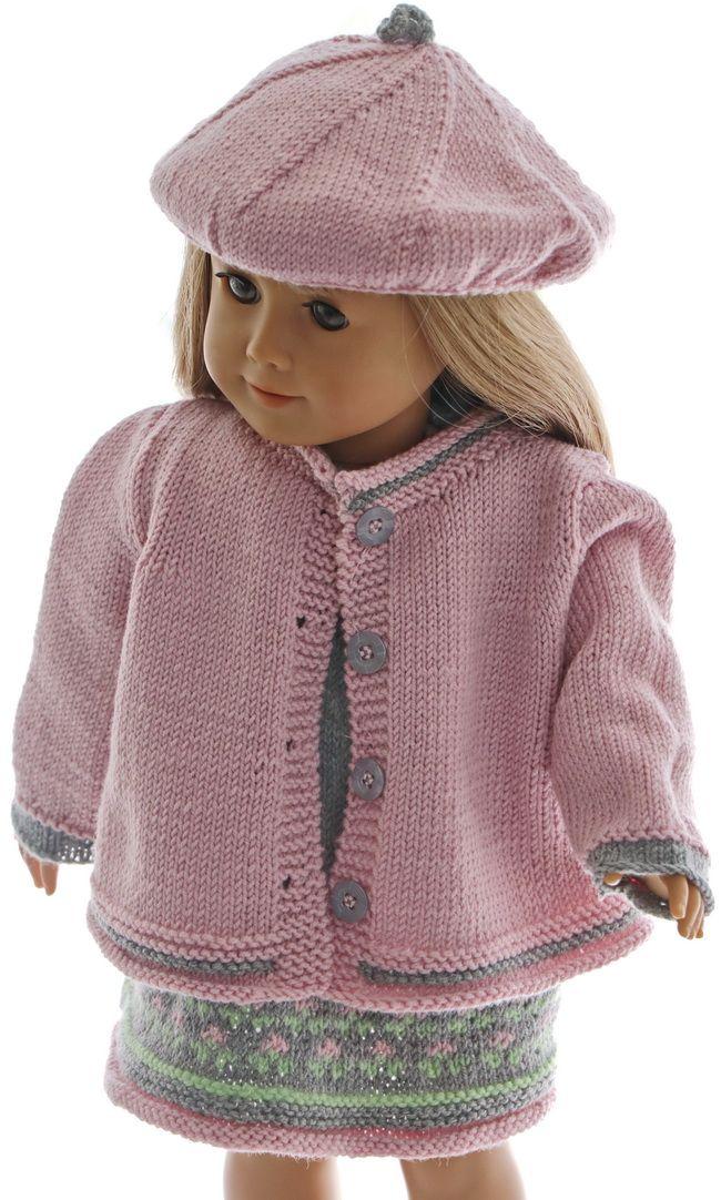 Puppenjacke stricken anleitung - Elegante Sommerkleid für fröhliche helle Sommertage #dolldresspatterns