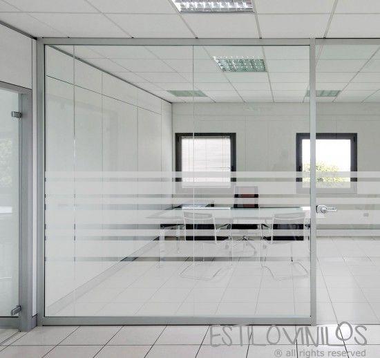 Esmerilado Oficina Rayas Deco En 2019 Glass Office