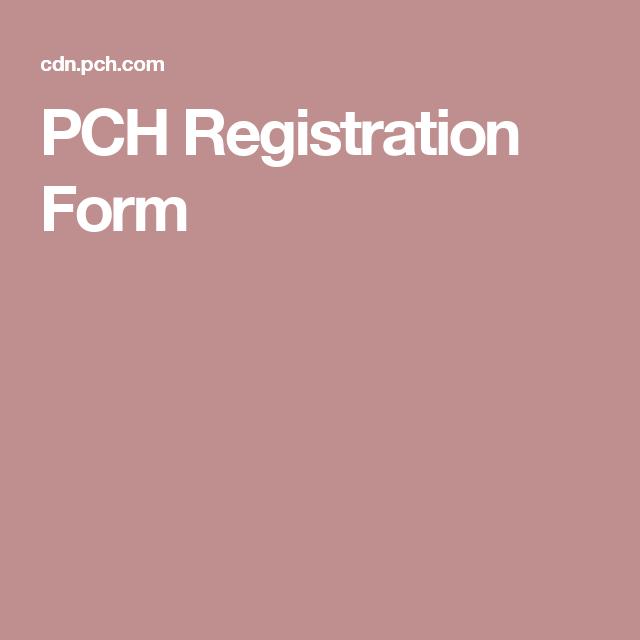 PCH Registration Form | brenda barber winner pch sweeps