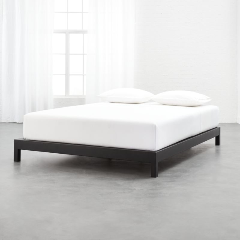 Simple Black Metal Bed Base Queen Reviews Cb2 Metal Bed Base