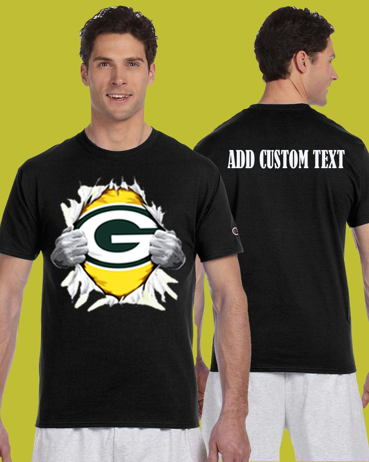 Greenbay Packers Tearing Throught Chest Superman T Shirt Add Personalized  Text On Back Shirts Clothing Sweats Mens Womens by dreamshoptime on Etsy 16316efa3
