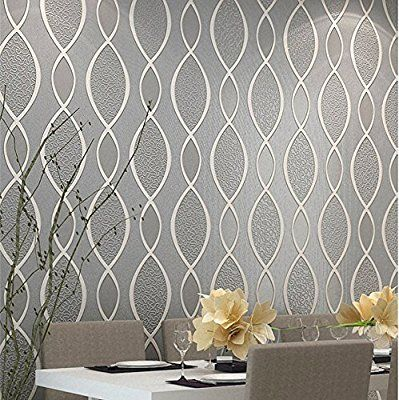 Blooming Wall Extra Thick Non Woven Modern Leaf Flow Embossed