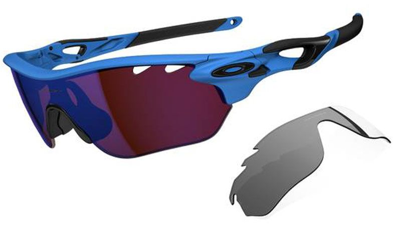 f1ee6a0f01 Cricket Sunglasses - Oakley Radarlock Edge Sunglasses - Matte Glacier   G30  Iridium Vented + Grey Vented