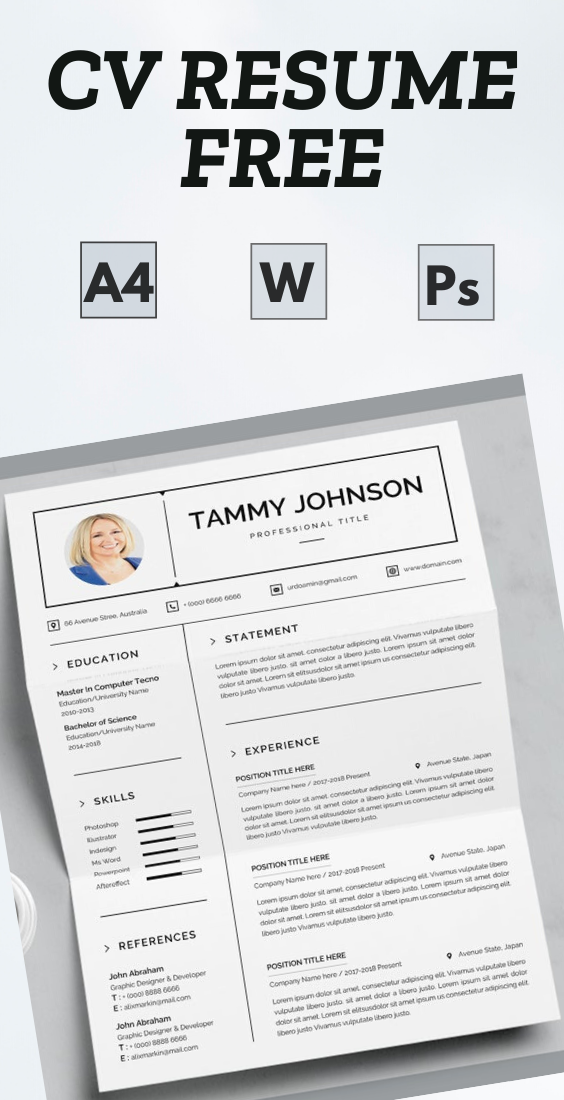 Resume Word Template в 2020 г