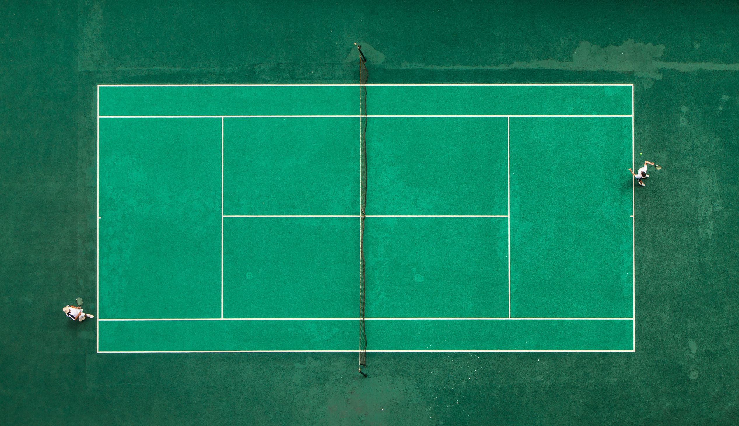 Surprising Aesthetic Sport Places Wall Murals Tennis Sports