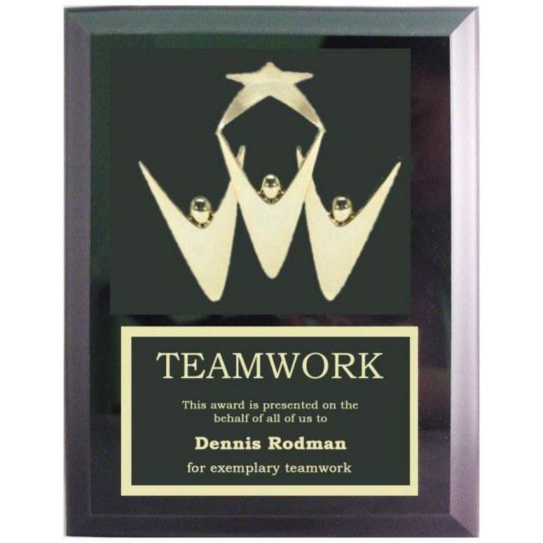 Plaque, Teamwork, Custom Awards