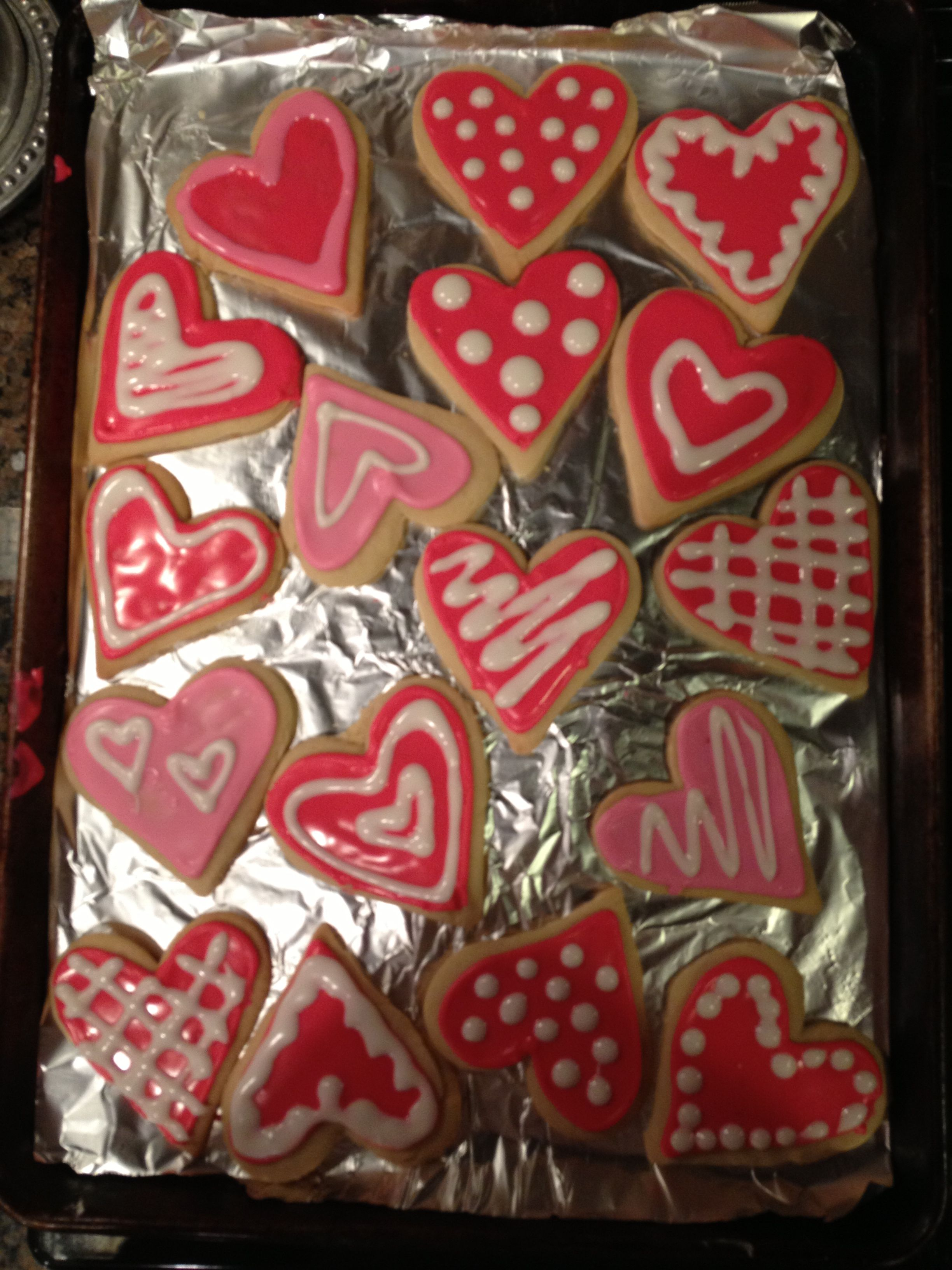 Valentines day cookies!