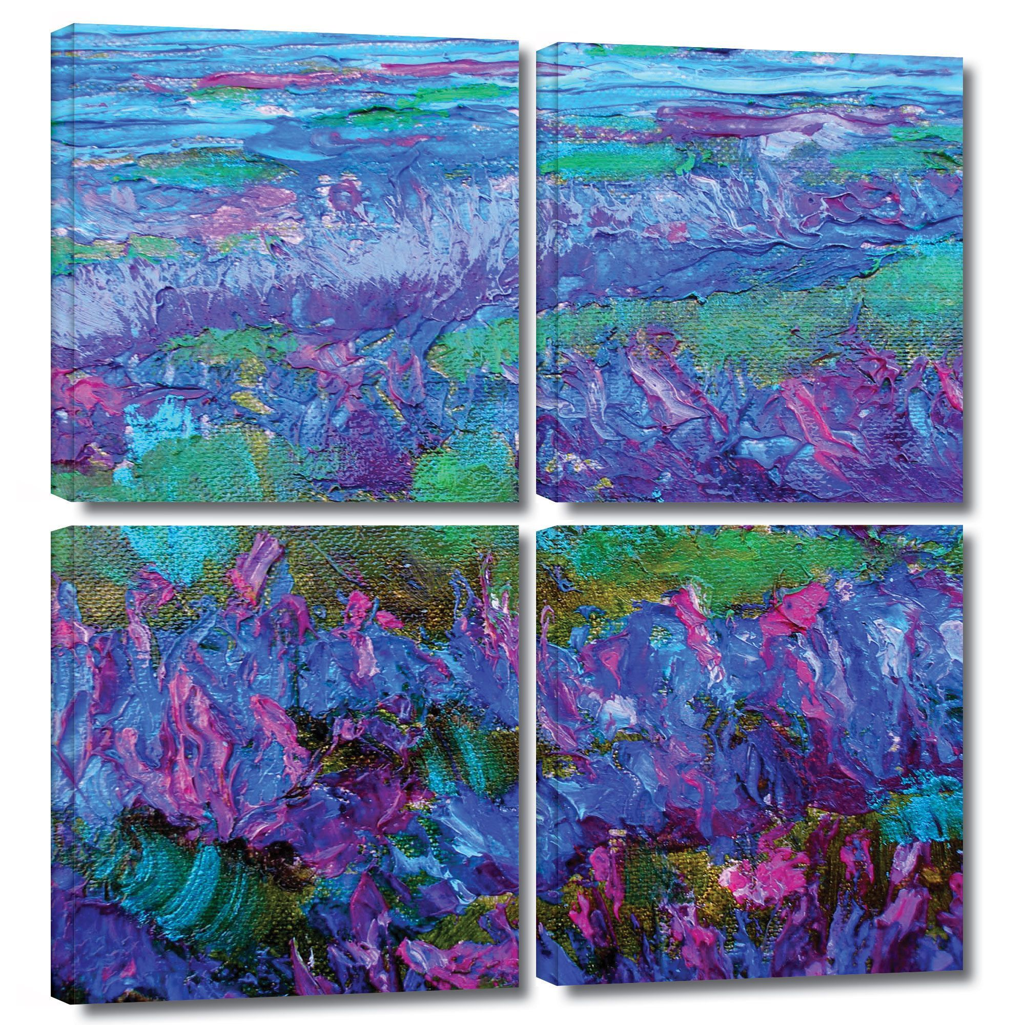ArtWall Susi Franco's StaticeFlying, 4 Piece Gallery Wrapped Square Set