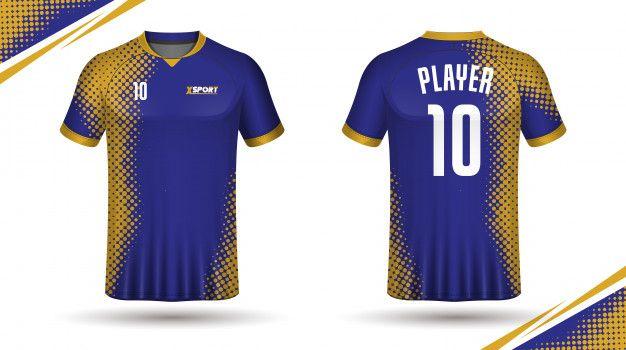 Soccer jersey template sport t shirt Pre... | Premium Vector #Freepik #vector #template #sport #fitn...