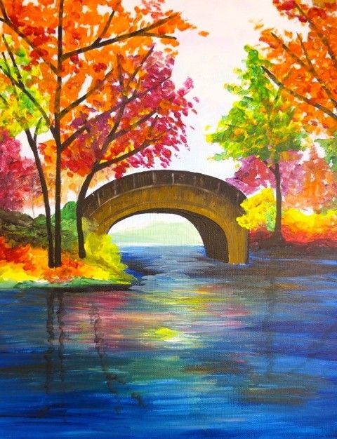 Wine Canvas Wine And Canvas Autumn Painting