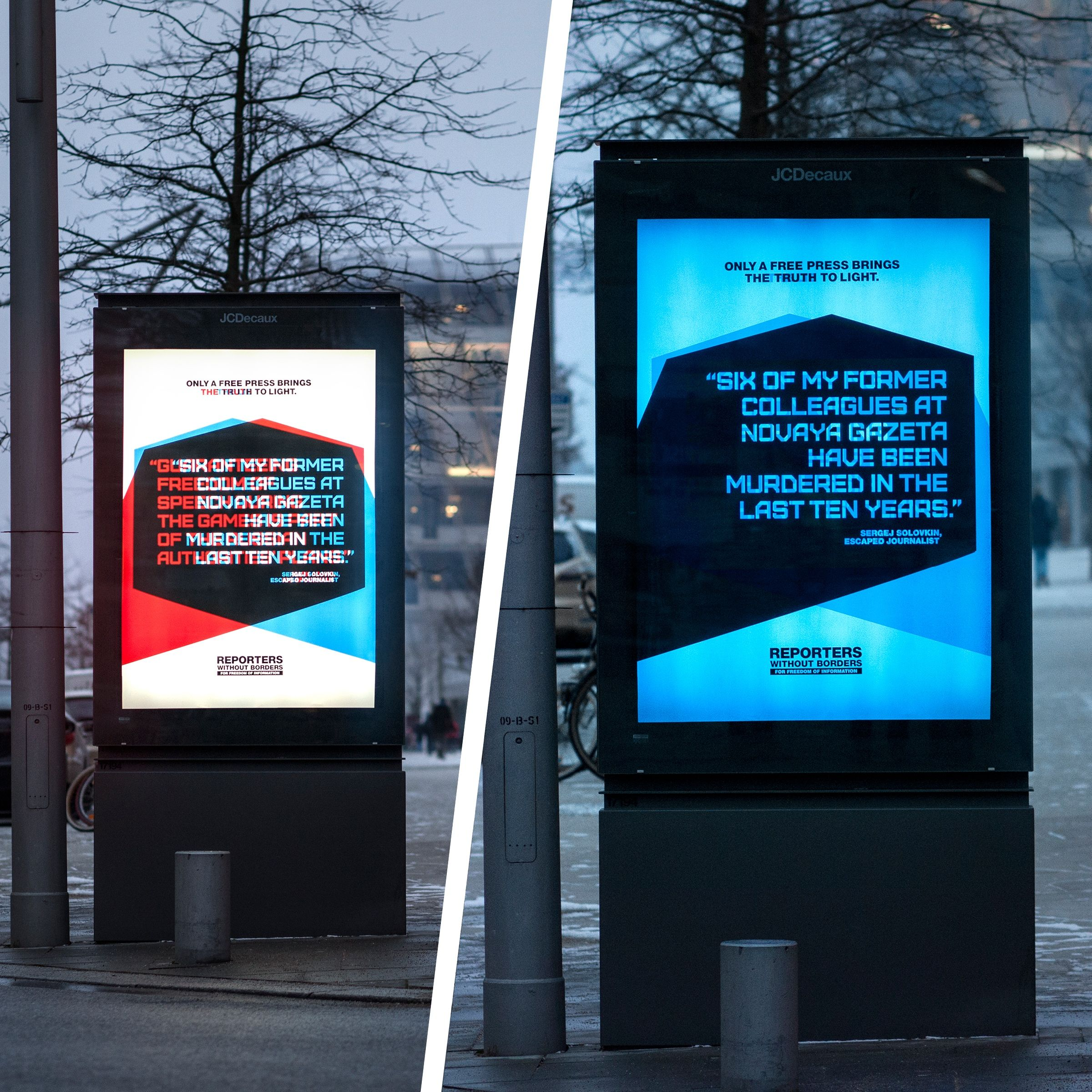 Reporters Without Borders Two Sides Philipp Und Keuntje - 35 controversial shocking adverts make stop think