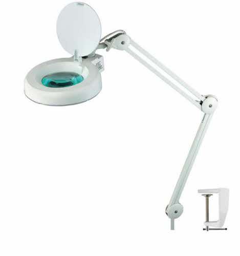 Fluorescent 3 Diopter Magnifying Lamp With Lens Cover White