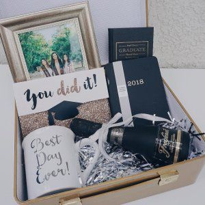 Gold mini suitcase centerpiece graduation gifts box and gift college the best graduation gift negle Gallery