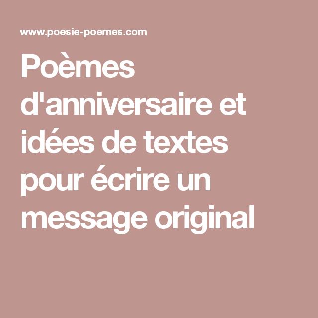 Poemes D Anniversaire Et Idees De Textes Pour Ecrire Un Message