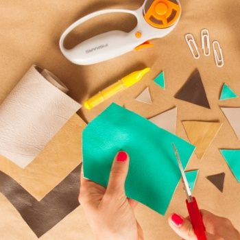 Try these easy techniques to get you started working with leather! We'll show you how to cut, sew, hammer, glue, and emboss. And if you're hand-sewing thick leather, expert High on Glue has the detailed guide below!