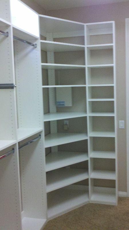 Corner Shelves For Closet Closet Remodel Corner Wardrobe Closet