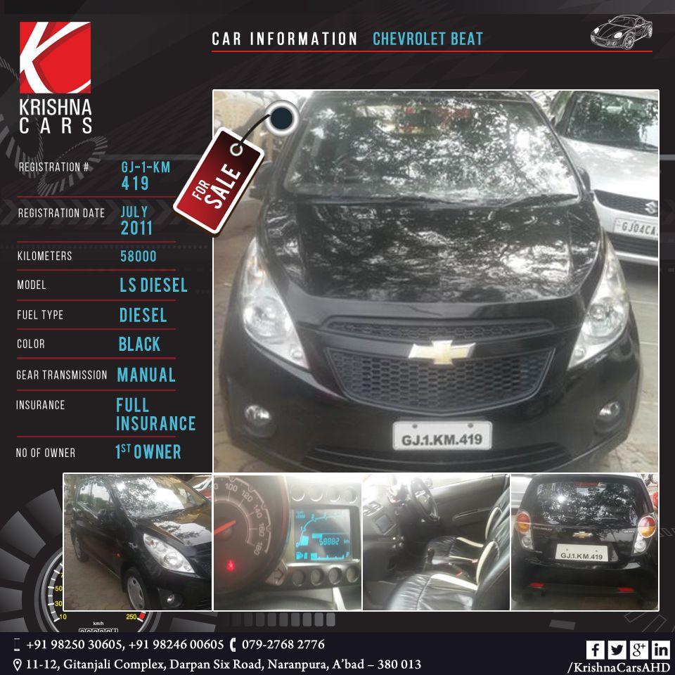 Usedcar For Sale Car Information Chevrolet Beat Registration