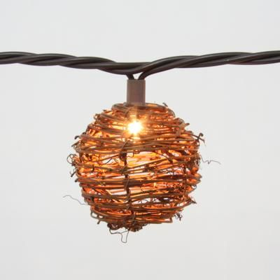 String Lights Home Depot Captivating Hampton Bay  Rattan Ball String Lights  10L  Kf01435Qpo  Home Inspiration