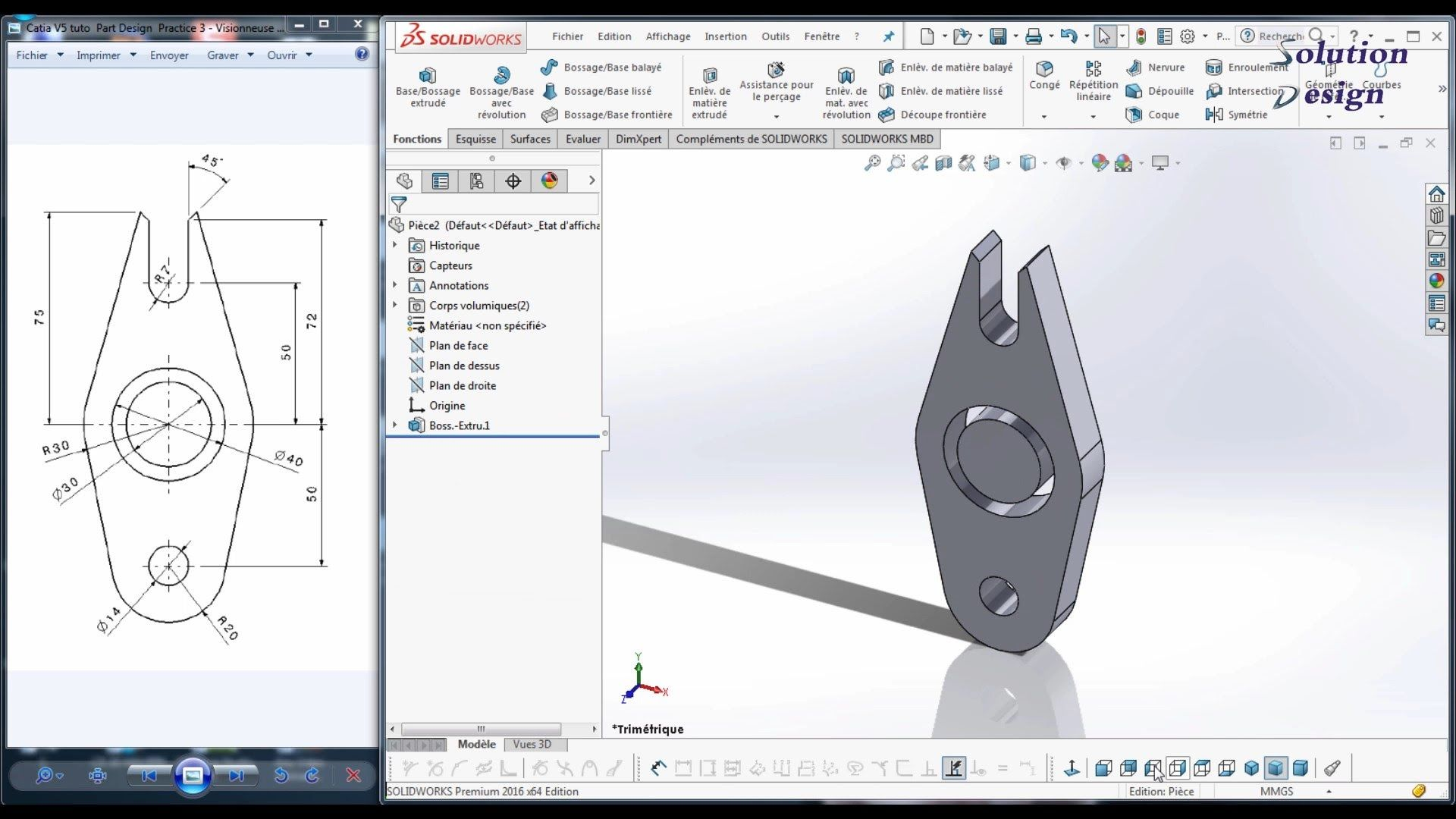 solidworks tuto practice 3 full hd for beginners solidworks