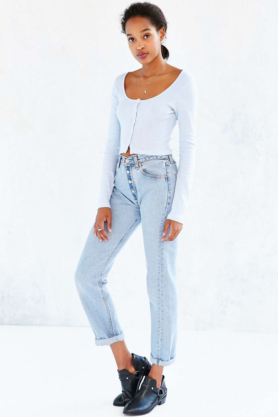 Truly Madly Deeply Clarissa Cropped Long-Sleeve Top - Urban Outfitters
