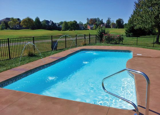 Sun Fiberglass Pools Pool Styles Medium Rio Pool Pool Sizes Fiberglass Pools