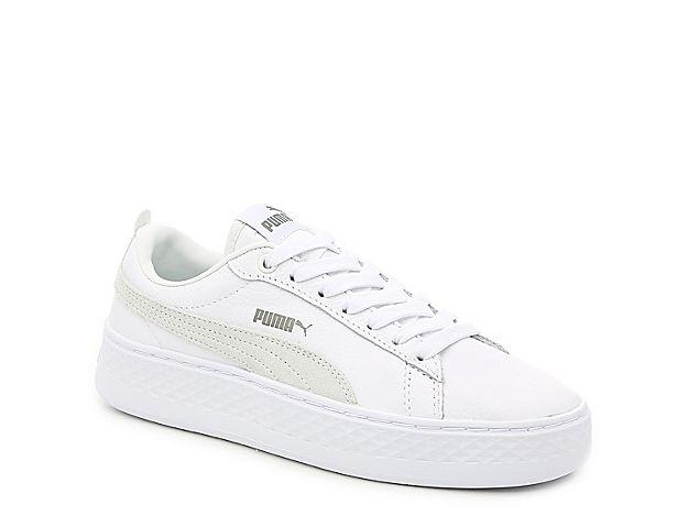 Women Smash Platform Sneaker - Women's -White | White puma ...