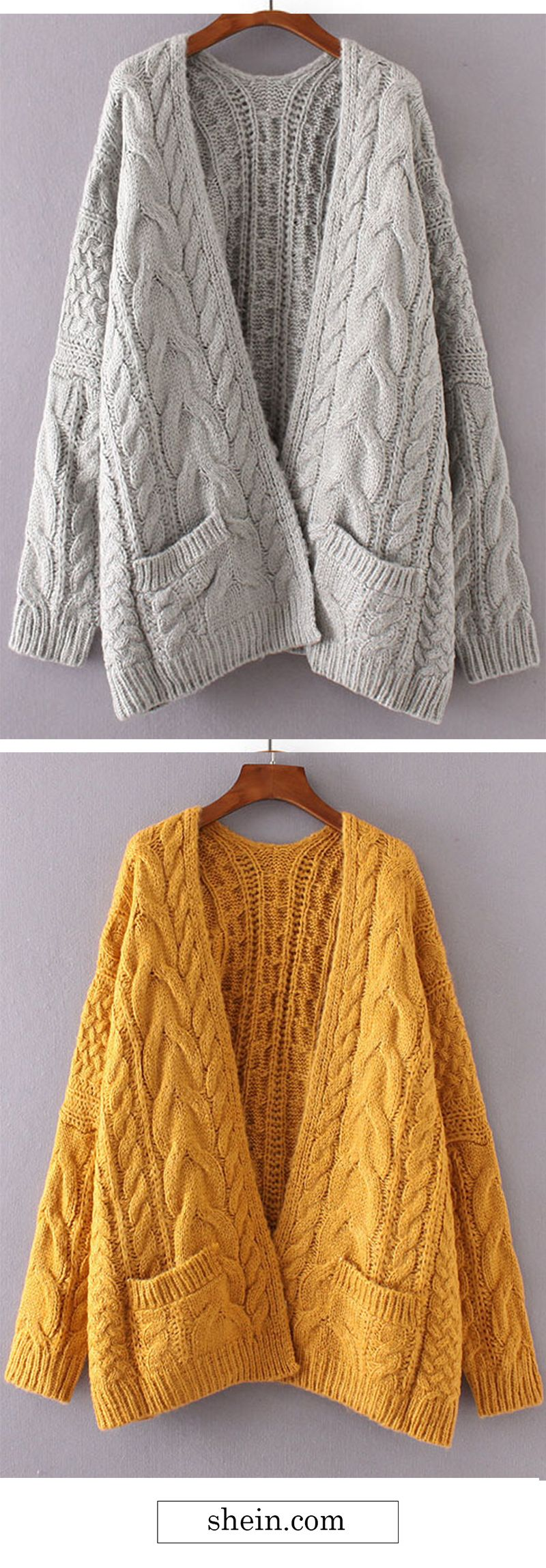 Drop shoulder cable knit cardigan. | Spotlights | Pinterest | Cable ...