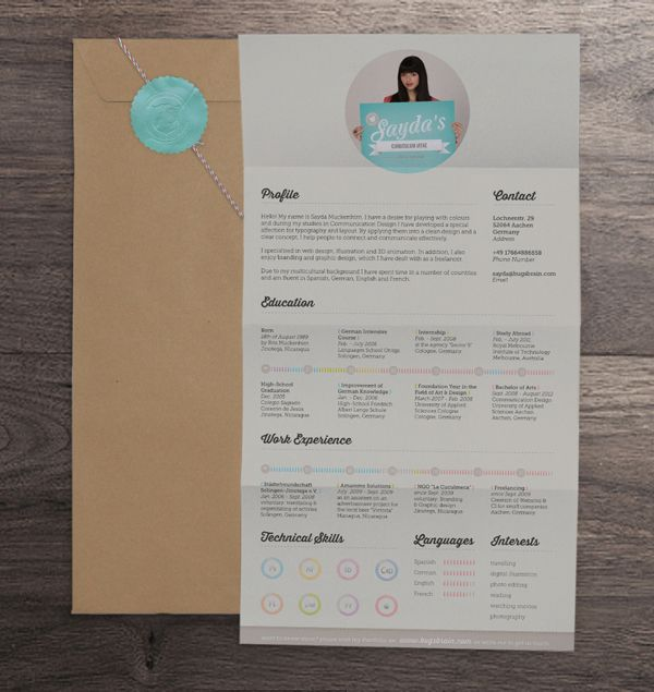 1000+ Images About Bewerbungen On Pinterest   Behance, Fonts And