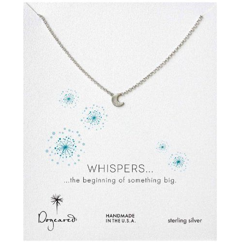 Dogeared Whispers Moon Glow Necklace, Sterling Silver