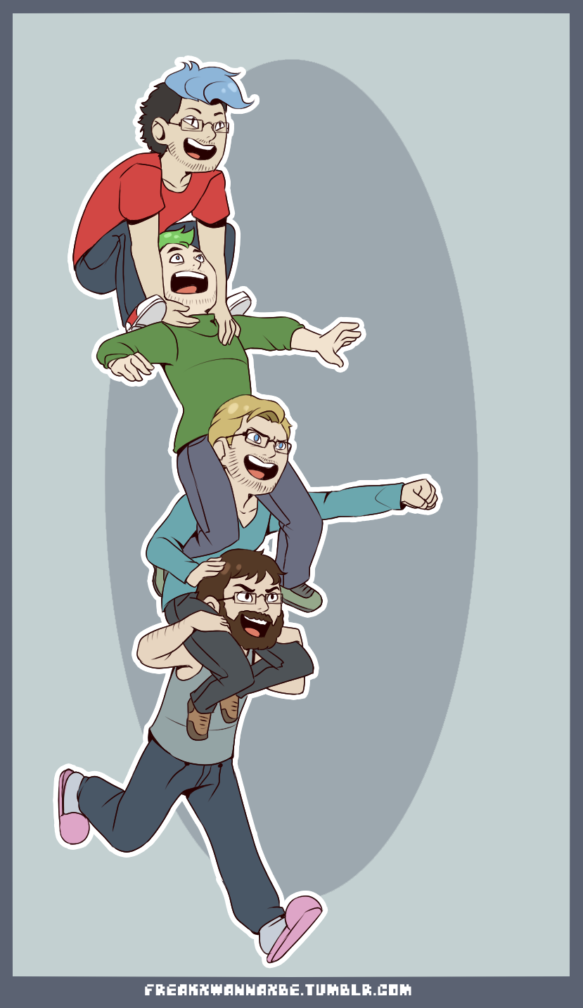 Jacksepticeye And Markiplier And Pewdiepie Fan Art