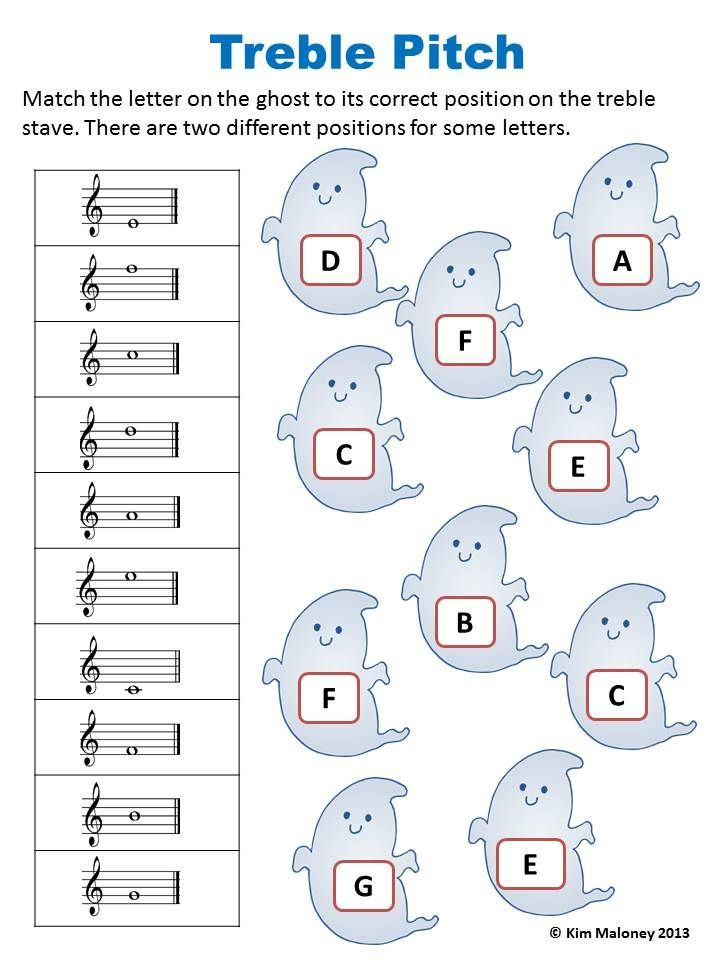 Halloween Music Activities 24 Halloween Music Worksheets Music - return to work note