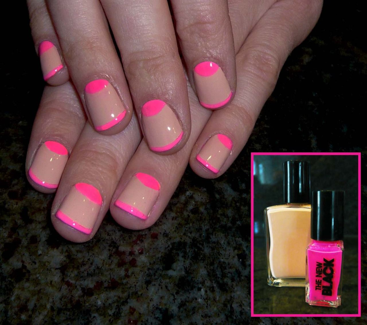 nude and neon moon and tips | Beauty and the buzz | Pinterest | Neon ...